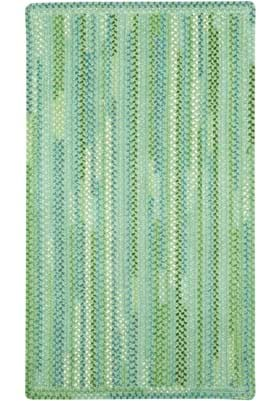 Capel Waterway Green Vertical Stripe Rectangl