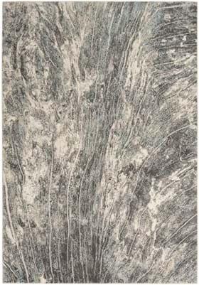 Nourison MRA03 Charcoal Ivory