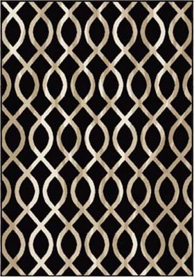 Orian Rugs Geo Loop 2036 Black