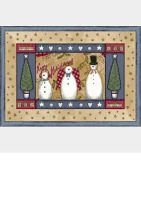 Milliken Holiday Rugs 4533 Frosty and Family 12