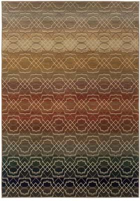 Oriental Weavers 3945 Brown Rust
