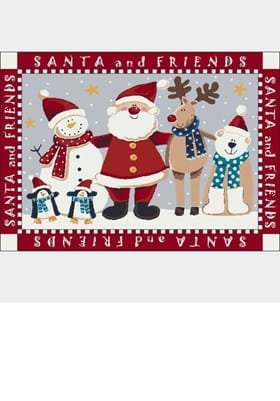 Milliken Santa and Friends 4533 Indian Red 235