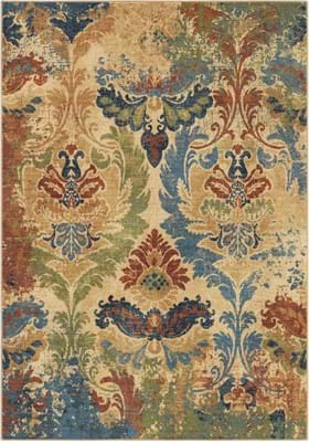 Orian Rugs 4518 Distressed Hearst White