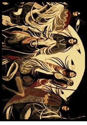 United Weavers 910-07130 Native Moon Burgundy