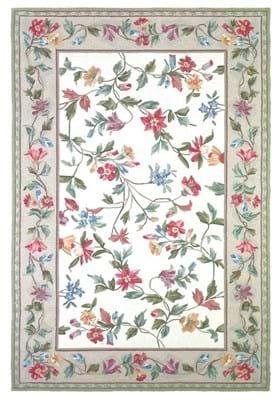 KAS Floral Vine 1707 Ivory