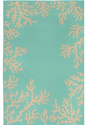 Trans Ocean Coral Border 178393 Turquoise