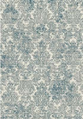 KAS Damask 8609 Ivory Blue