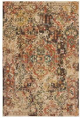 Oriental Weavers 9555 B Charcoal Orange