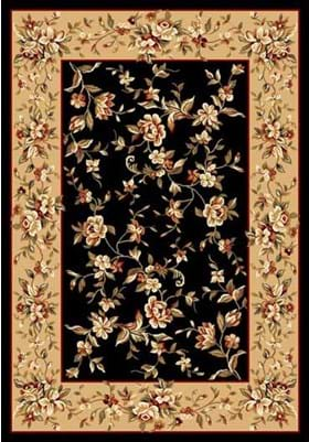 KAS Floral Delight 7336 Black Beige
