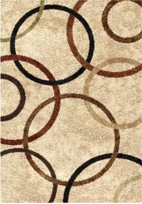 Orian Rugs Circle Design 3706 Bisque