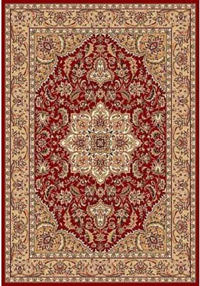 KAS Kashan Medallion 7326 Red Beige