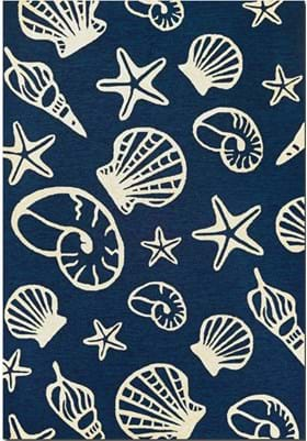Couristan 7334 Cardita Shells 0313 Navy Ivory