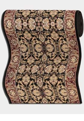 Couristan 6259 Isfahan 2000A Ebony Persian Red