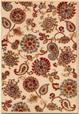 Couristan 1386 Marlow 6262 Antique Cream Ruby