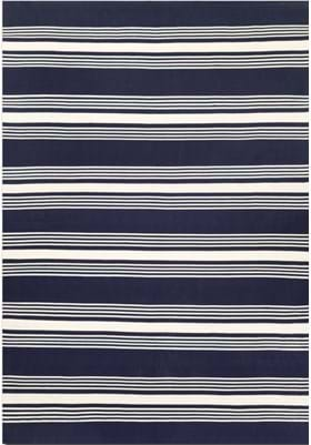 Couristan 5653 Admiral 1134 Navy Ivory