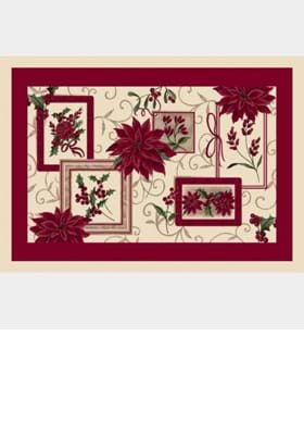 Milliken Holiday Rugs 4533 Winter Bouquet 16