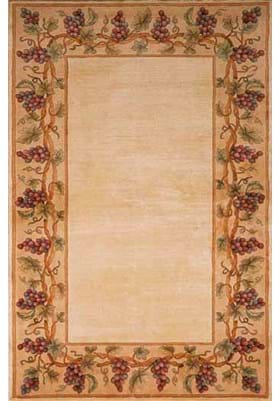 KAS Grapes Border 9058 Ivory