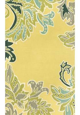 Trans Ocean Ornamental Leaf Border 194709 Yellow