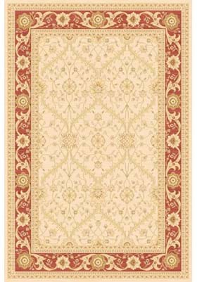 Rugs America 7707A Trellis Cream Red