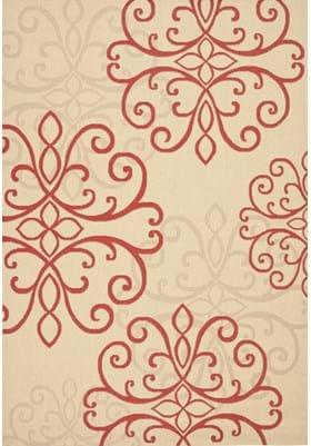 Safavieh CY6857-18 Creme Red