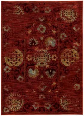 Oriental Weavers 6386E Red Gold