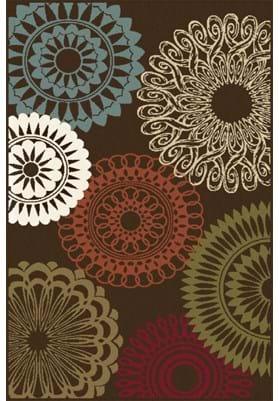 Tayse 1508 Geometric Brown