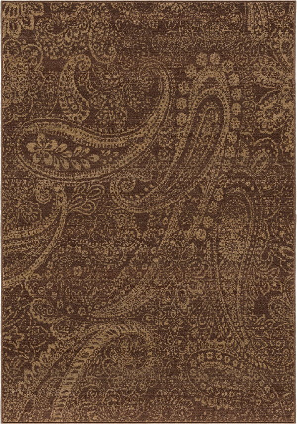 Orian Rugs Paisley Patch 3512 Brown