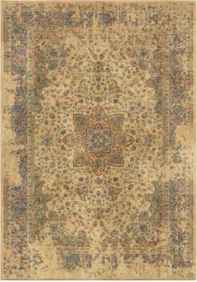 Orian Rugs 4510 Distressed Regal White