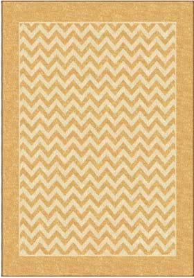 Orian Rugs Sunny Day Stripe 2337 Gold