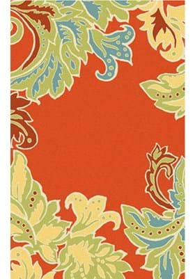 Trans Ocean Ornamental Leaf Border 194717 Orange