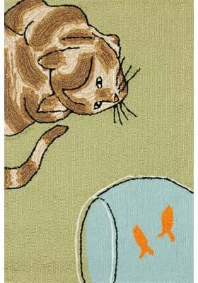 Trans Ocean Curious Cat 143006 Green