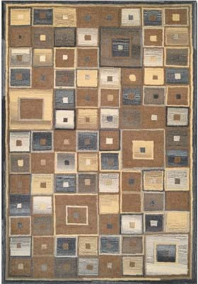 Couristan 2149 Abstract Squares 0004 Brown