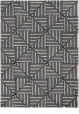 KAS 4304 Navy Charcoal Diagonal Tile