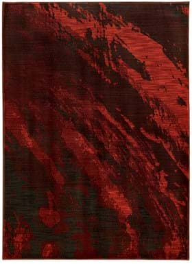 Oriental Weavers 6367B Red Charcoal
