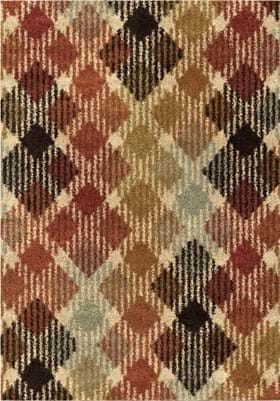 Orian Rugs Duo Diamonds 3625 Multi