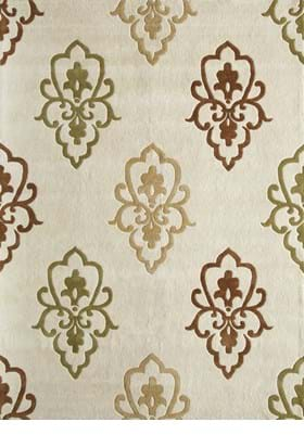 Rugs America 4830A White Opulance