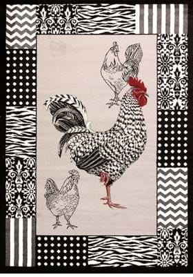 United Weavers 580-11772 BW Rooster Grey