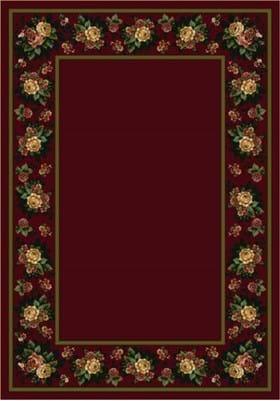 Milliken Floral Lace 8548 Cranberry 10806