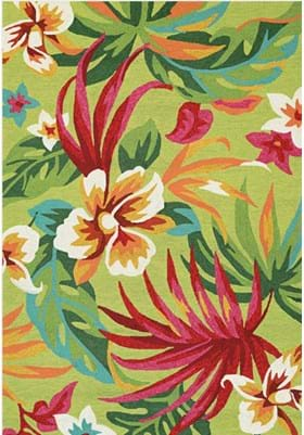 Couristan 4098 Painted Fern 4071 Fern Red