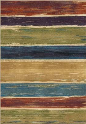 Orian Rugs Beach House Stripe 3836 Multi