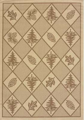 United Weavers 101-40550 Woven Pine Brown
