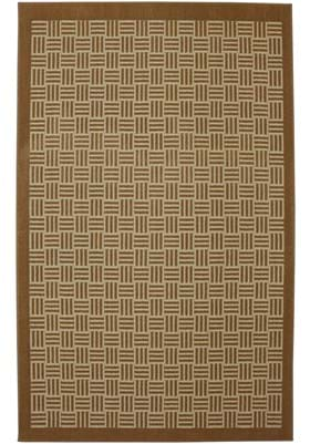 American Rug Craftsmen Checkered Past 6986 Tobacco Brown Almond 16675