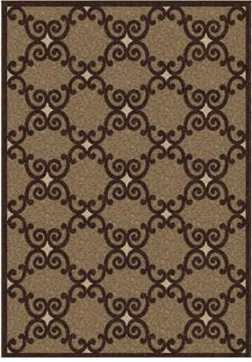 Orian Rugs Valence 2034 Brown