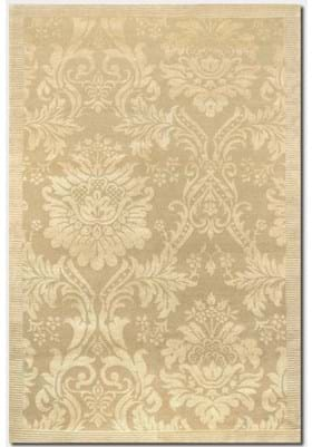 Couristan 8064 Antique Damask 0264 Gold Ivory