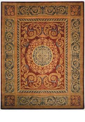 Safavieh EM421A Burgundy Gold