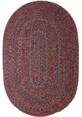 Rhody Rug SO-45 Burgundy Red Multi