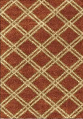 Orian Rugs Concentric Diamonds 3630 Burnt Orange