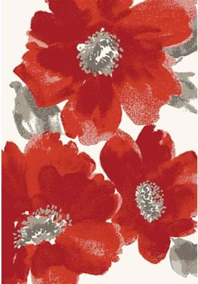 Dynamic Rugs 35021 1250 Ivory Red