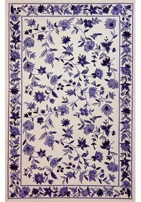 KAS Floral 1727 Ivory Blue