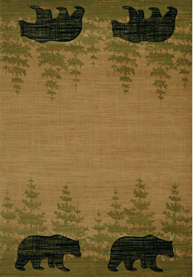 United Weavers 511-31226 Wooded Bear Beige